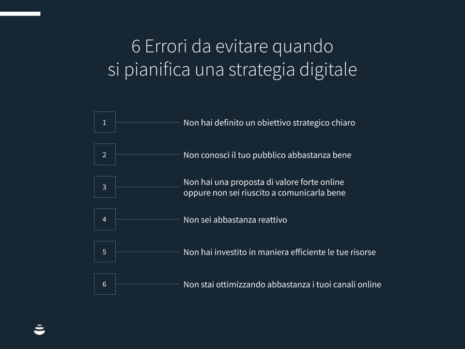 6 Errori da evitare quando si pianifica una strategia digitale