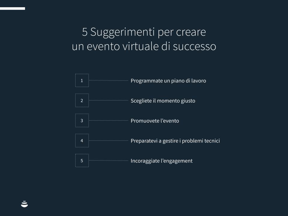 5 Suggerimenti per creare un virtual event di successo