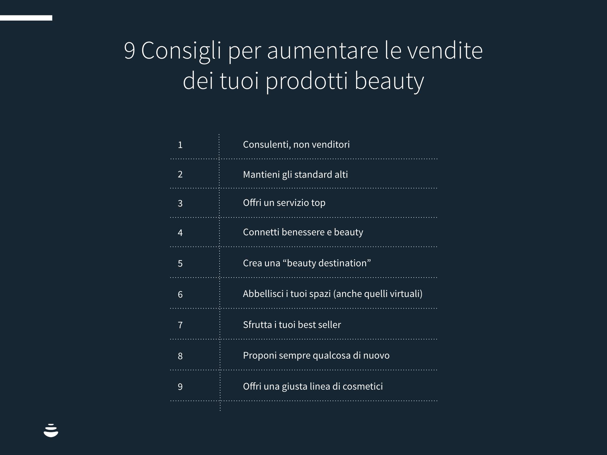9 consigli per aumentare le vendite beauty