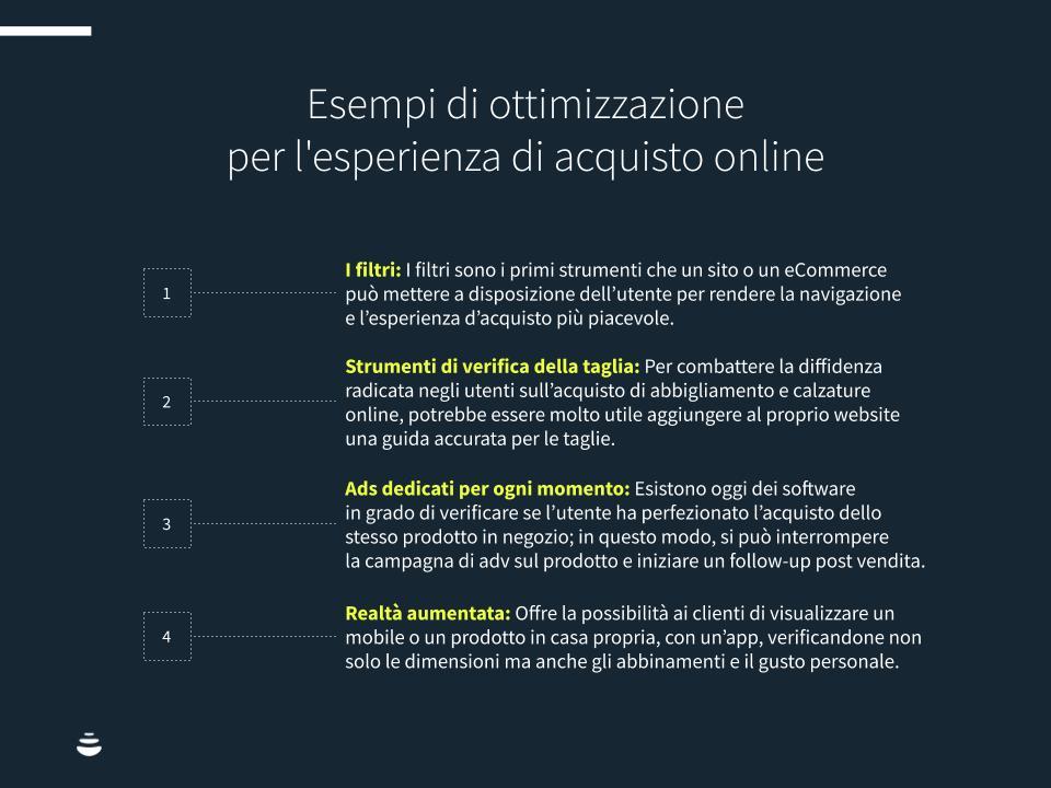Infografica sull'effetto ROPO: esempi di ottimizzazione per l'esperienza di acquisto online.