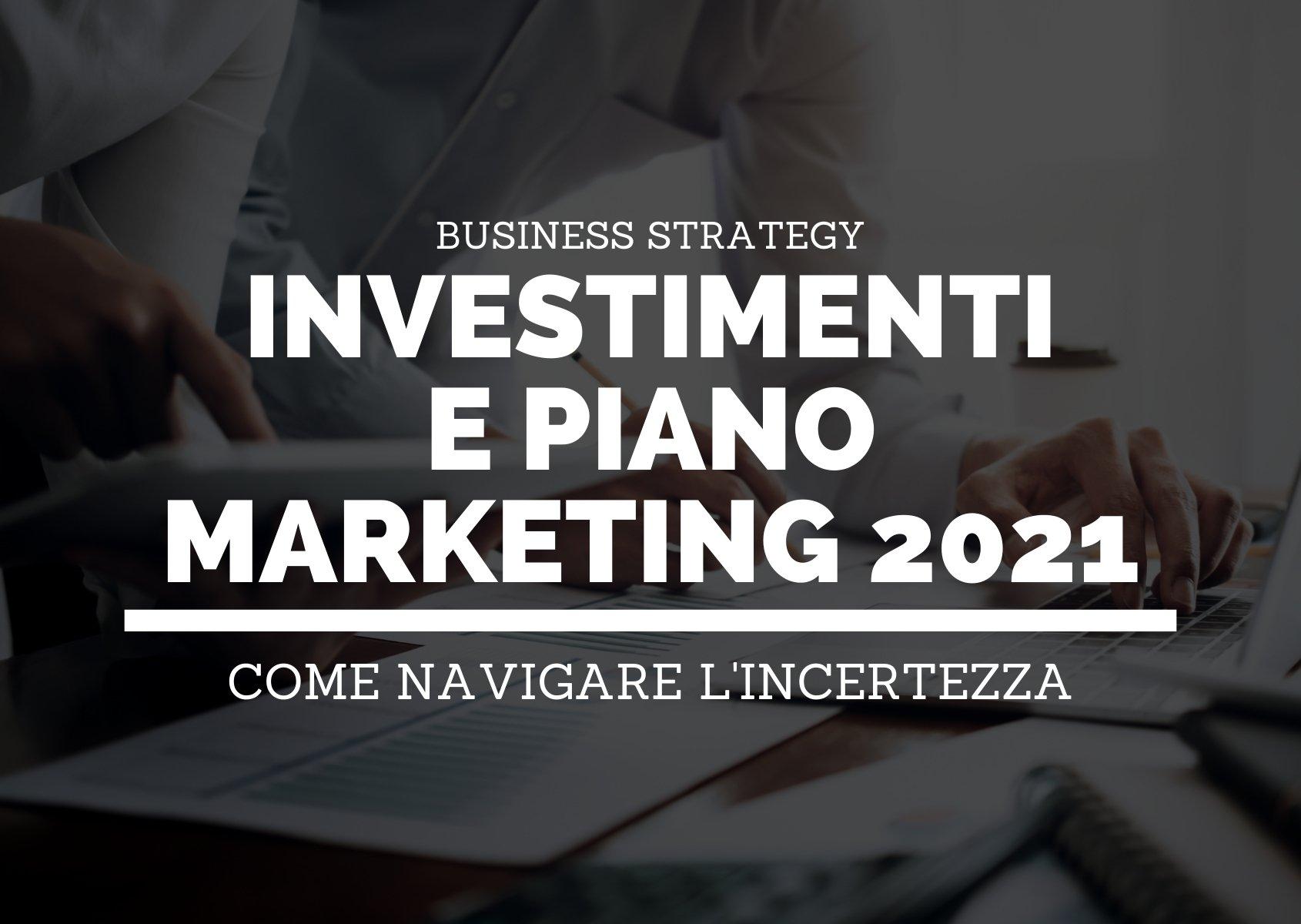 Investimenti e piano marketing per il 2021-header