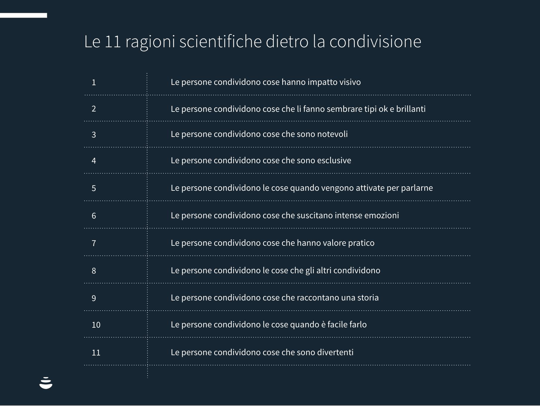 Le 11 ragioni scientifiche dietro la condivisione