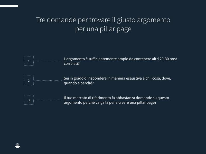 come trovare argomenti per pillar page