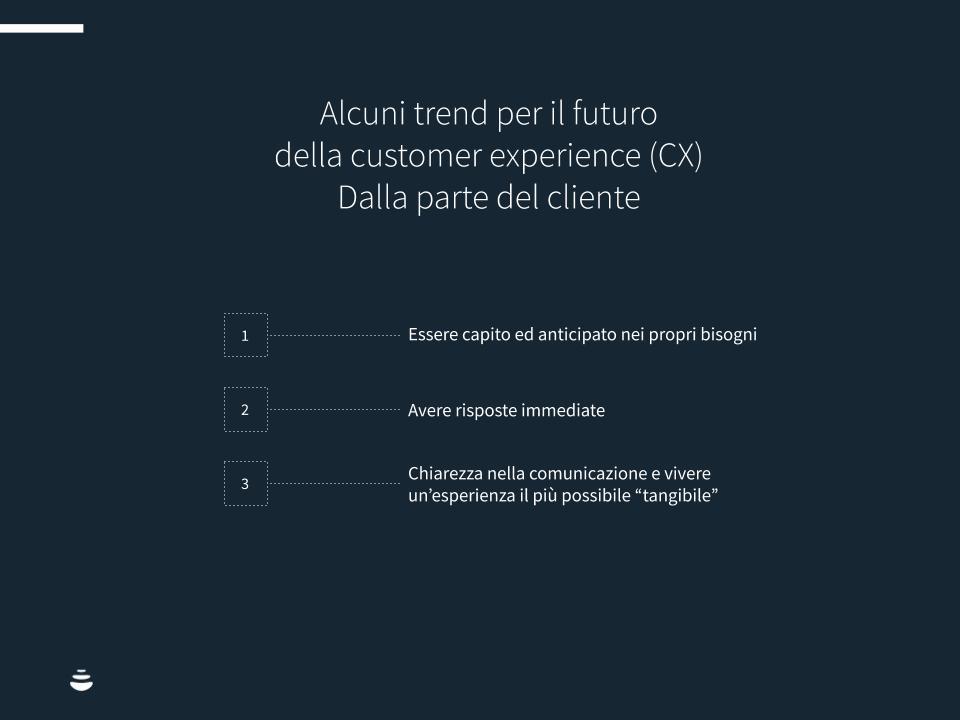Infografica: Alcuni trend per il futuro della customer experience (CX) dalla parte del cliente