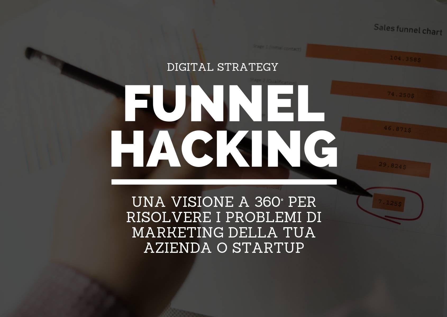 Funnel hacking: una visione a 360° per risolvere i problemi di marketing della tua azienda o startup
