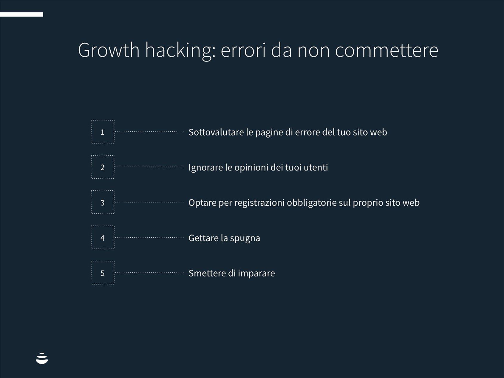 growth hacking errori da non fare