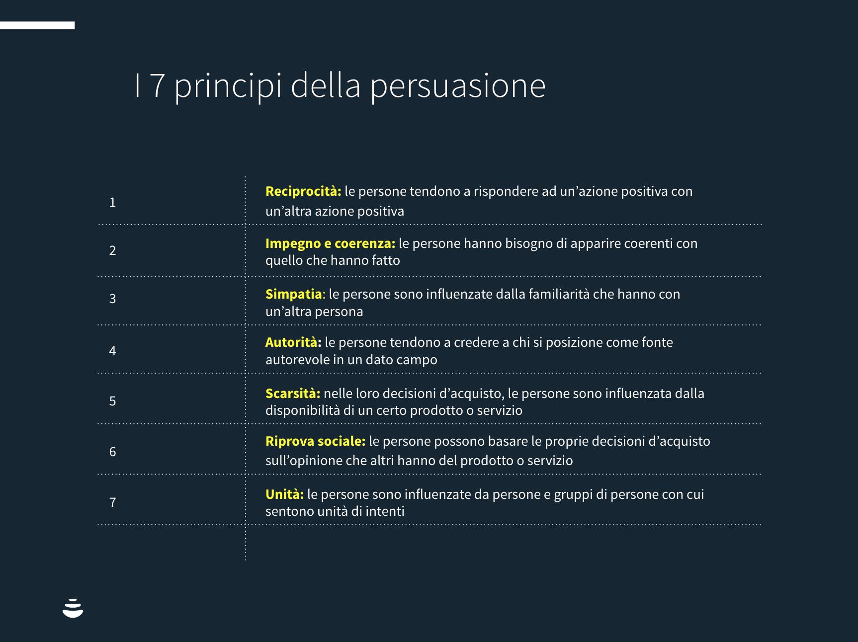 i 7 principi della persuasione robert cialdini
