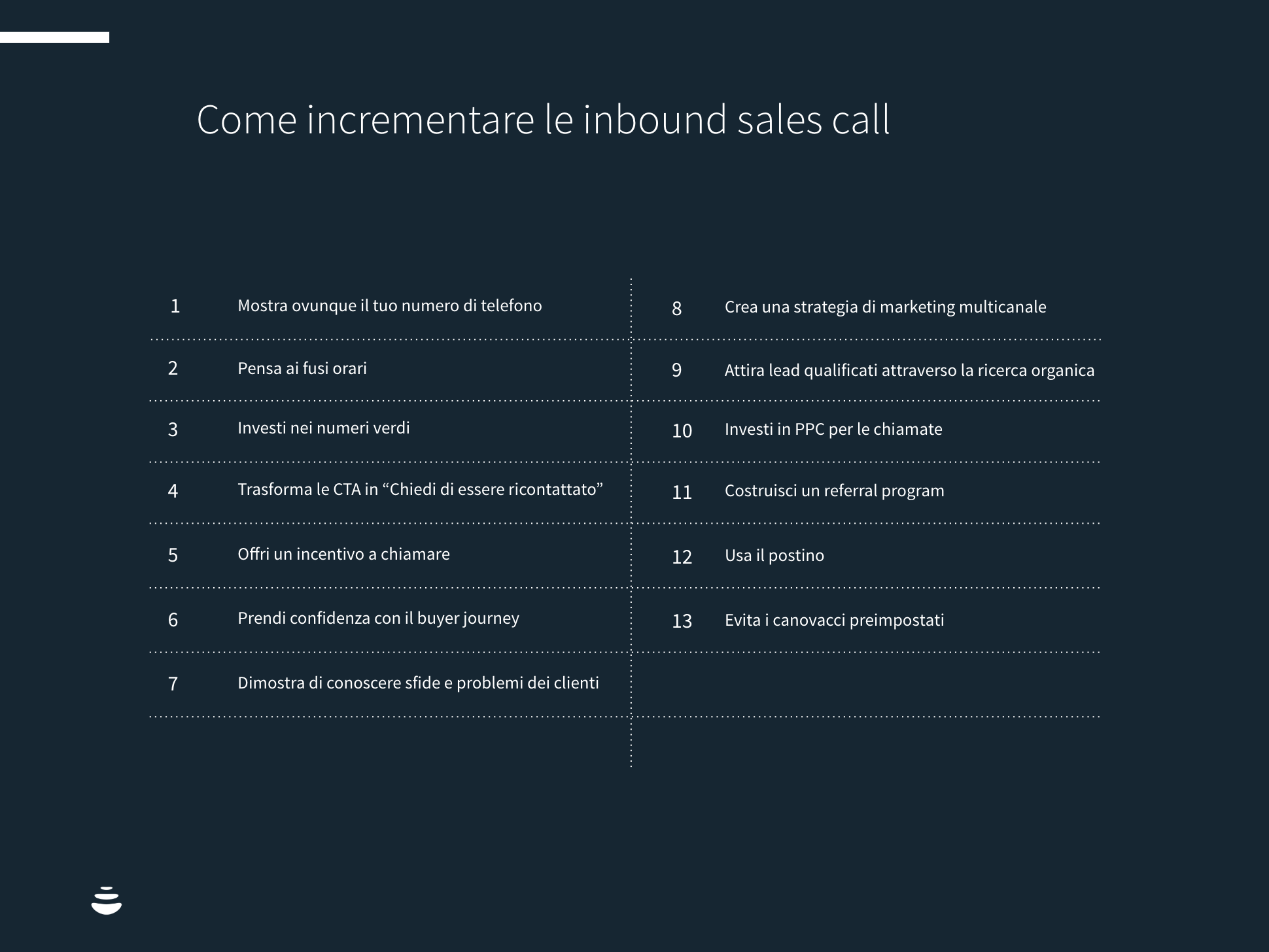 incrementare le inbound sales call