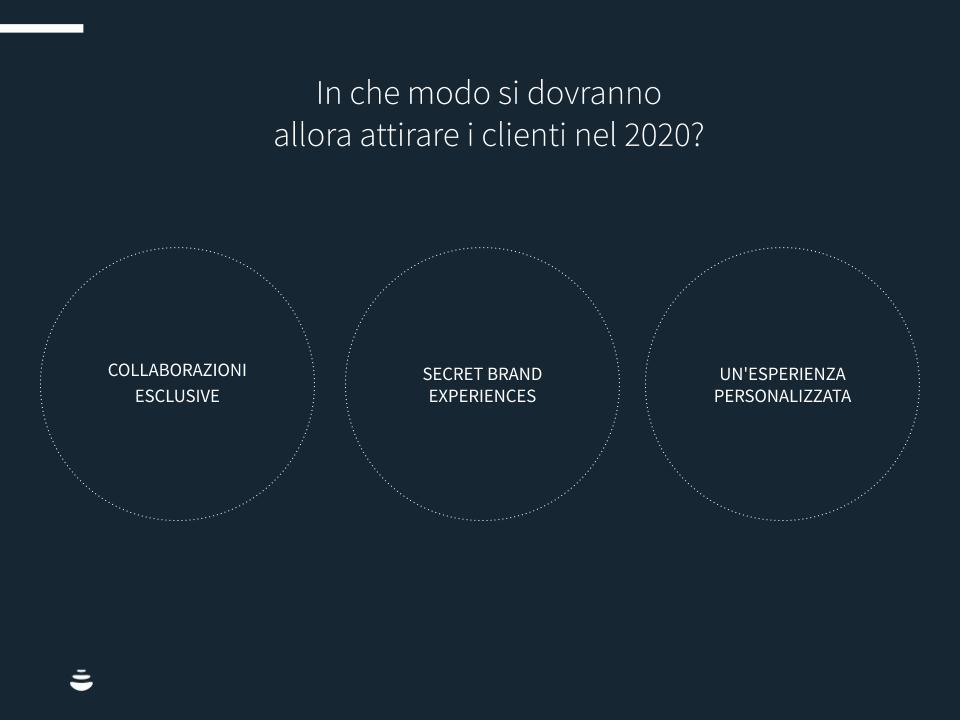 Infografica:In che modo si dovranno allora attirare i clienti nel 2020?