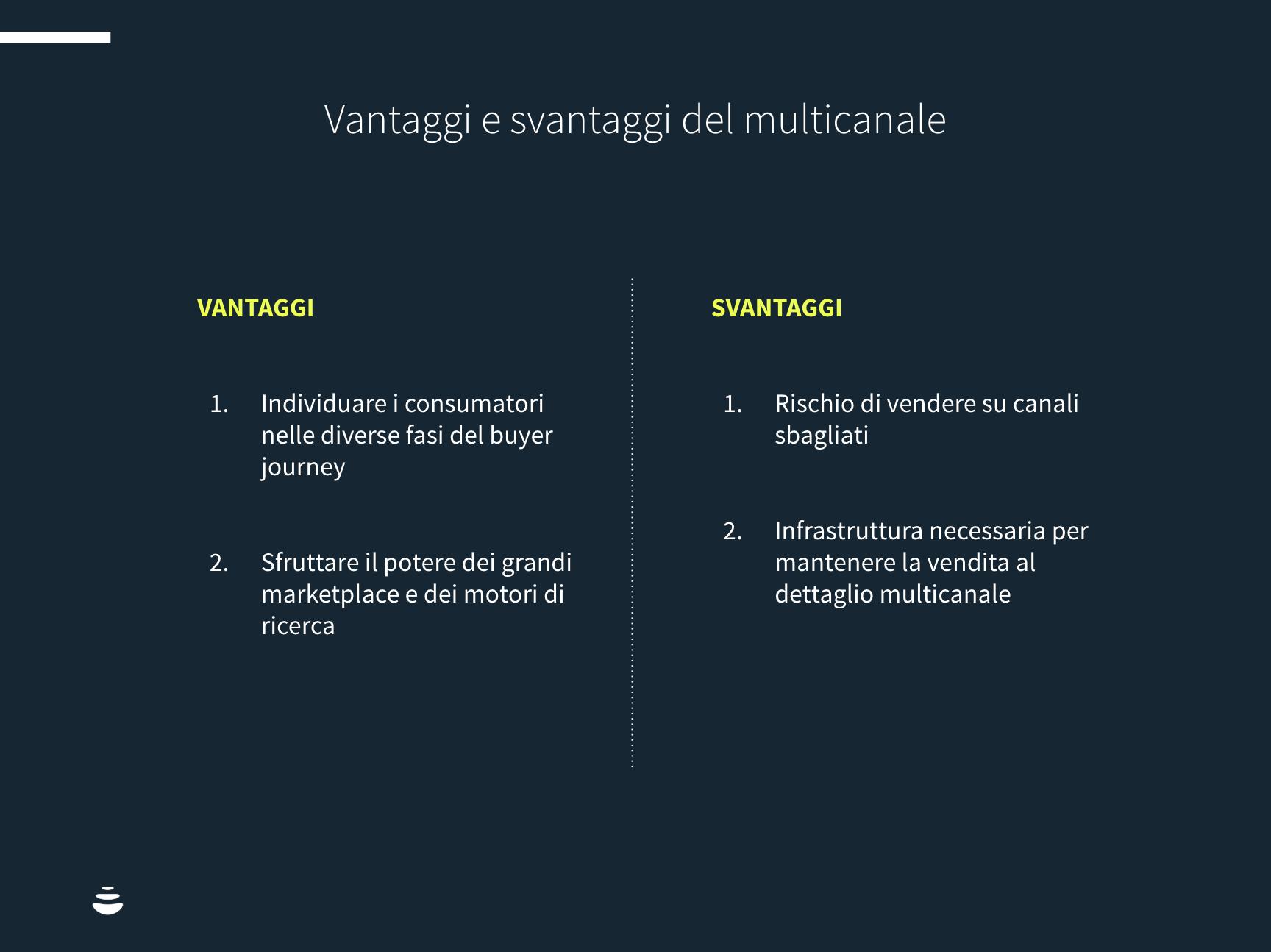 vantaggi e svantaggi multicanale